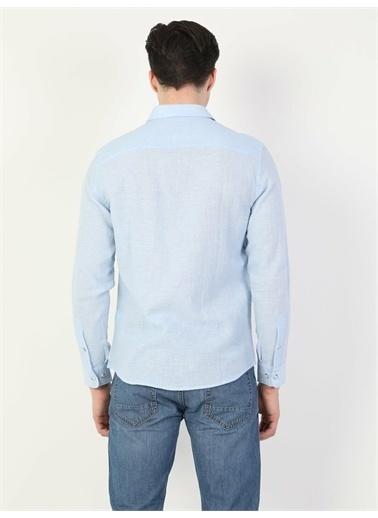 Colin's CL1041771_Q1.V2_BLE  Erkek Uzun Kol Gömlek Mavi
